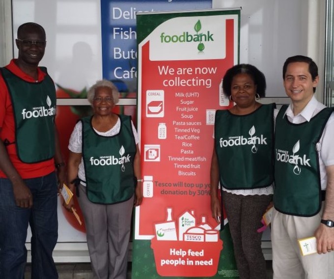 Angel with Foodbank team